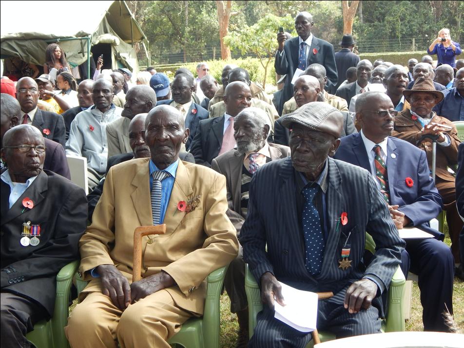 Kenyan Veterans on Remembrance Day, 2018
