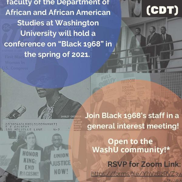 Black 1968 Presents: Virtual Brainstorming Workshop & Call for Papers