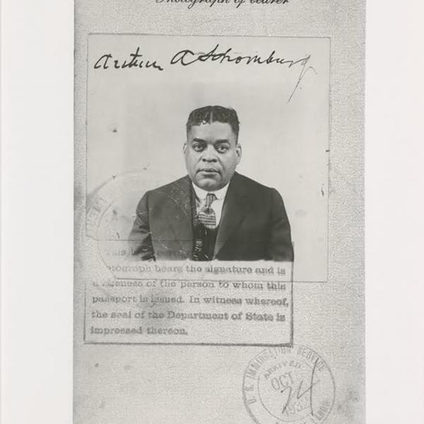 Rafia Zafar guest edits African American Review's special issue on Arturo Alfonso Schomburg