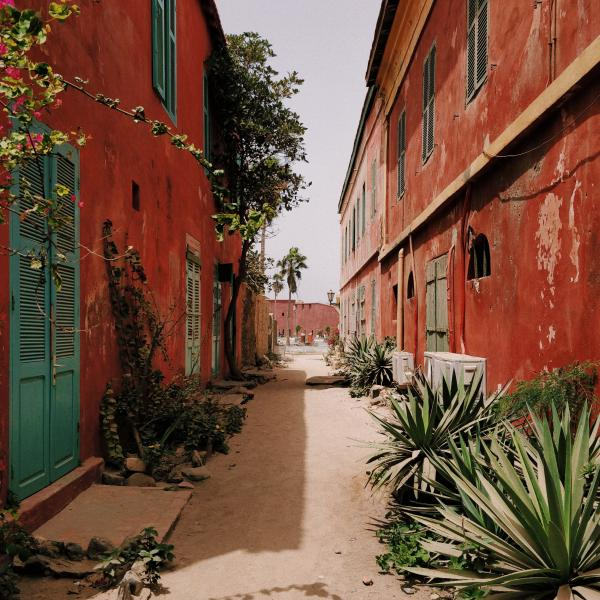 Alley in Île de Gorée, Dakar, Senegal