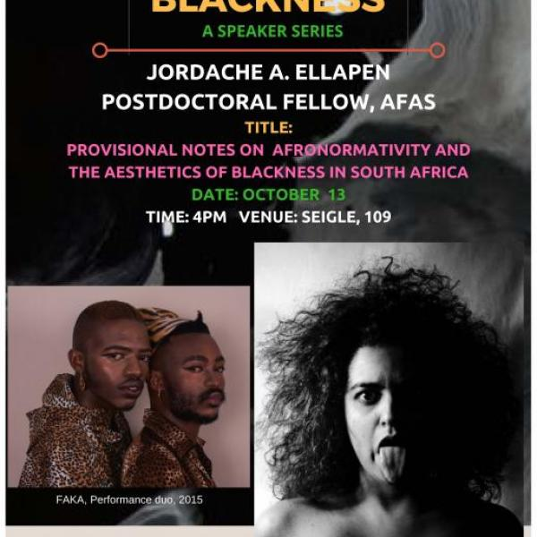 Provisional notes on 'Afronormativity' and the Aesthetics of Blackness in South Africa