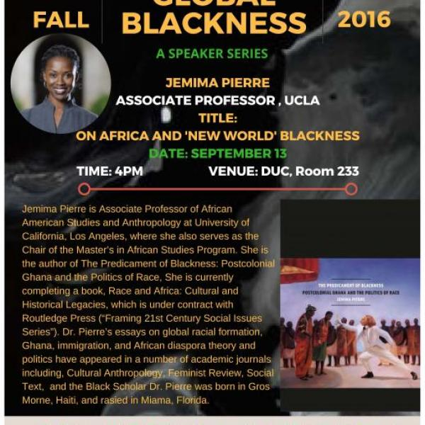 Global Blackness Lecture Series